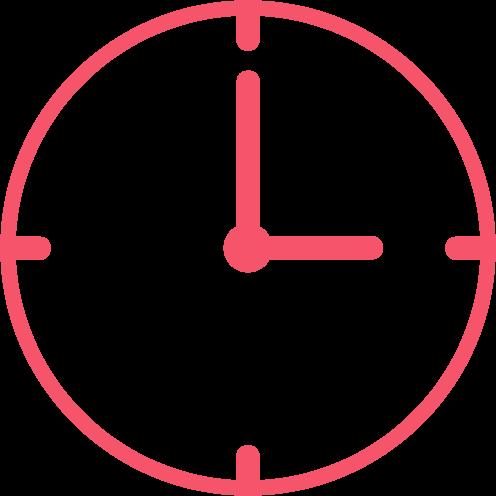 Ikonka zegarka w kolorze czerwonym