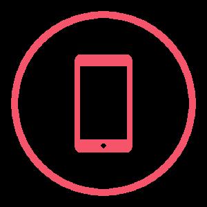 ikonka telefonu komórkowego w kolorze czerwonym